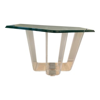 1980's Lucite Console Table From the Pace Collection For Sale