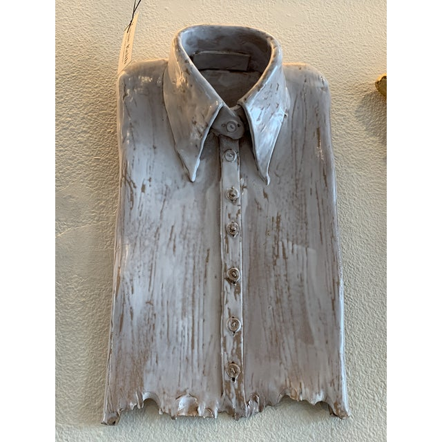 Contemporary 1990s Ceramic Shirt Sculpture For Sale - Image 3 of 4