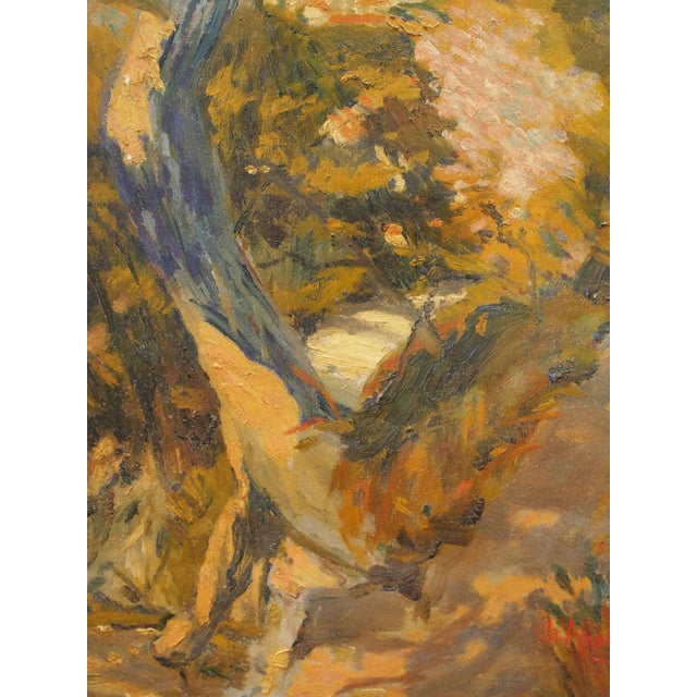 Impressionist Landscape Painting, Signed Ch. Andreani For Sale - Image 4 of 7