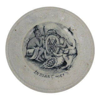Historical Childs Doll Plate, Indian Chiefs Gold Rush - Circa 1850 For Sale