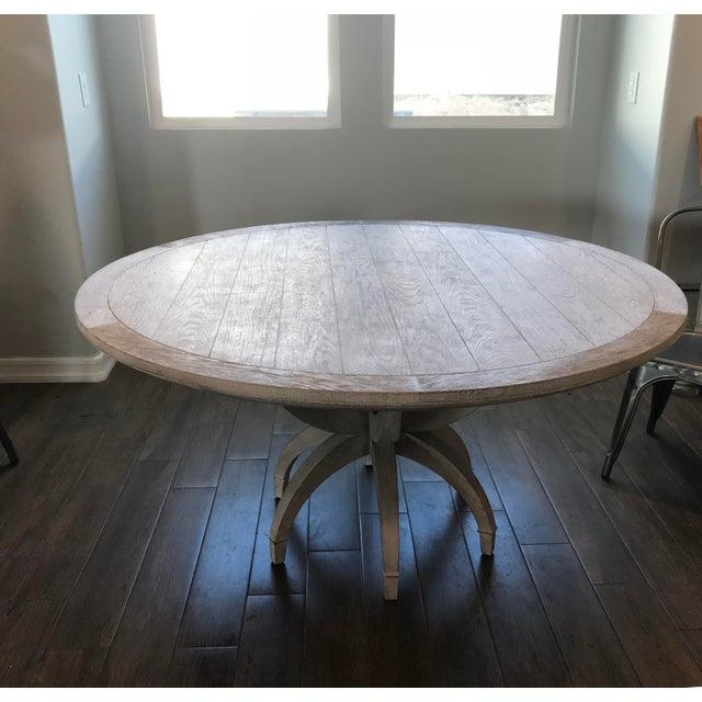 Global Views Klismos White Oak Round Table - Image 2 of 11