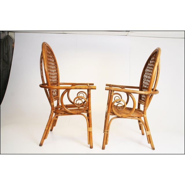 Boho Chic Vintage Bamboo Bentwood Chairs - A Pair For Sale - Image 3 of 11