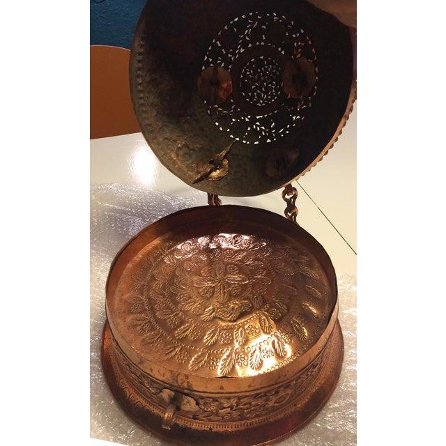 Antique Copper Repousse Paan Dan Box For Sale - Image 5 of 7