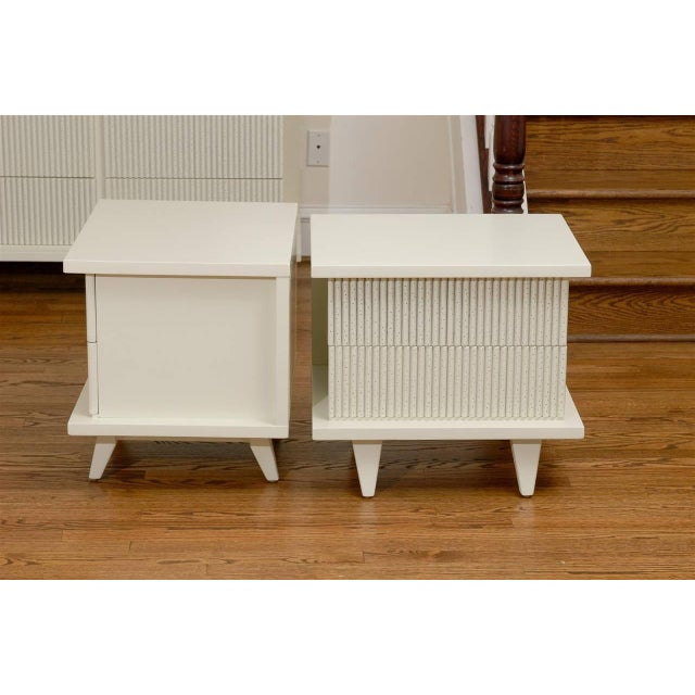 Mid-Century Modern Stunning End Tables or Night Stands by American of Martinsville For Sale - Image 3 of 11