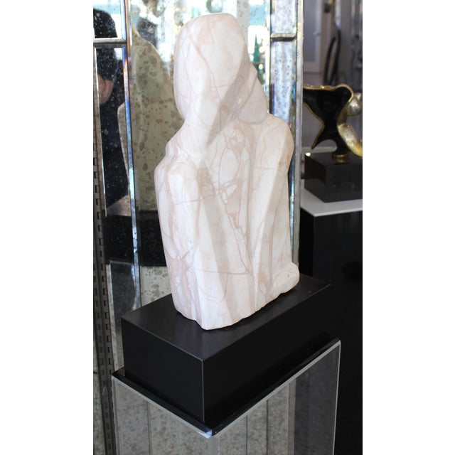 """Beatrice Eiges Mid-Century Modern Beatrice Eiges Marble Sculpture """"Mother and Child Embracing"""" on Custom Lucite Base For Sale - Image 4 of 13"""