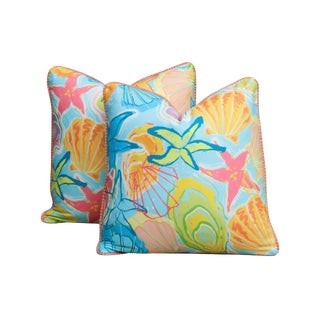 Clarence House & Hamilton's Spanish Seaside Feather/Down Pillows - a Pair For Sale
