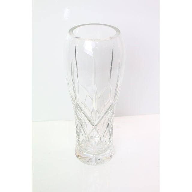 Vintage Cut Glass Vase For Sale - Image 4 of 5