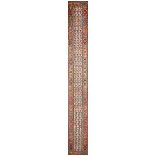Antique Persian Kurd Carpet Runner, Extra Long Persian Runner - 3' X 23'7 Preview