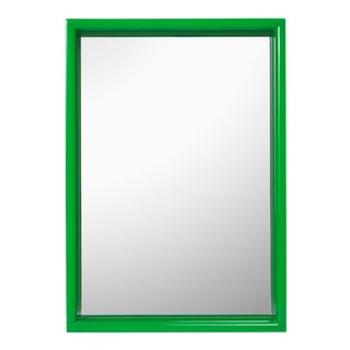 Pentreath & Hall Collection Small Rectangular Mirror in Chartrueses / Kelly Green For Sale