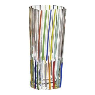 Carlo Moretti Rover Murano Mouth Blown Glass Vase For Sale