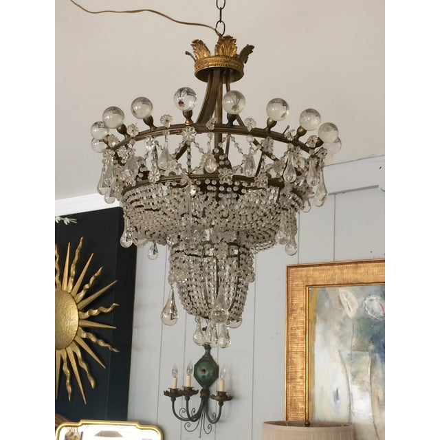 French 3 Tier Crystal Chandelier For Sale - Image 13 of 13