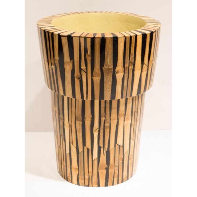Modern R & Y Augousti Bamboo Vase For Sale - Image 3 of 7