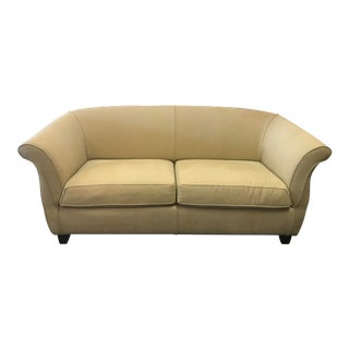 Modern Tan Love Seat Sofa For Sale
