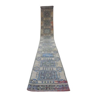 Oversized Boho Chic Vintage Turkish Oushak Extra Long Runner - 2′9″ × 20′3″ For Sale