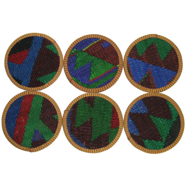 Kazazlar Kilim Coasters - Set of 6 - Image 2 of 2