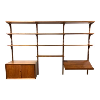 Poul Cadovius Danish Modern Modular Teak Wall Shelving Unit For Sale
