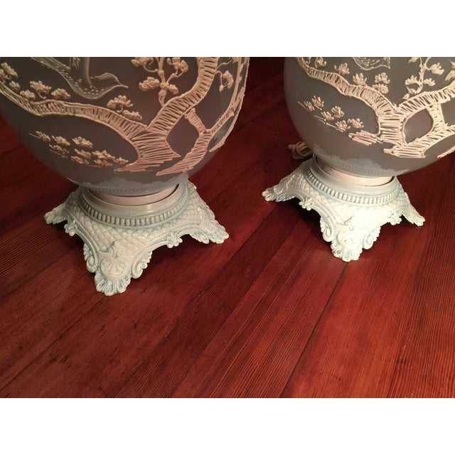 Vintage Glass Table Lamps - A Pair - Image 3 of 5