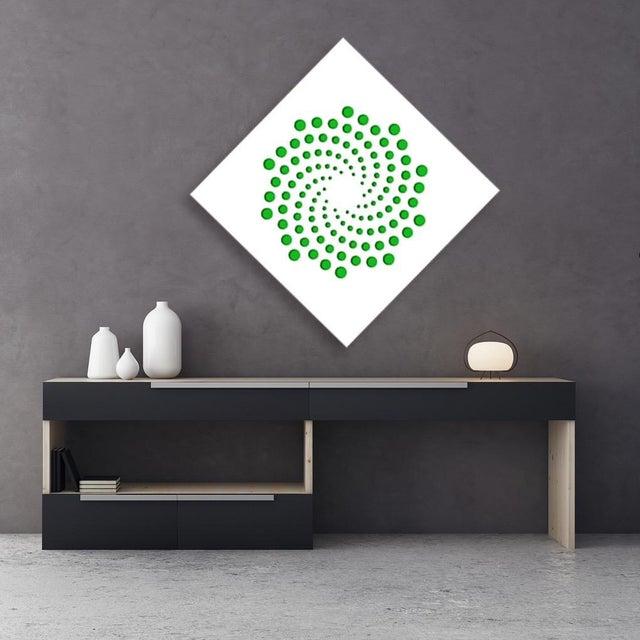 Pop Art Chuck Krause Spirals (Green), original three dimensional geometric design wall relief 2020 For Sale - Image 3 of 4
