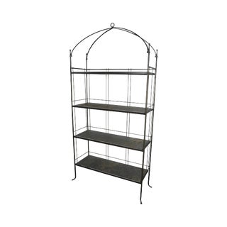 Charleston Forge Hand Wrought Iron Bakers Rack Etagere