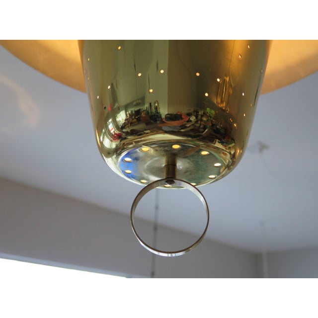 Brass Brass Pendant Adjustable Lamp For Sale - Image 7 of 9