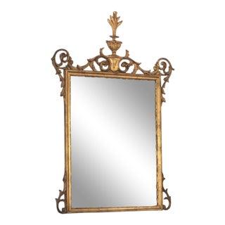 1970s Regency Style Gold Gilt Wall Mirror