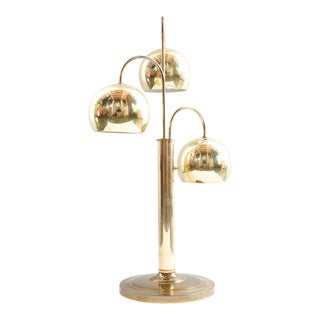 Modern Robert Sonneman Style Brass Three Light Lamp For Sale