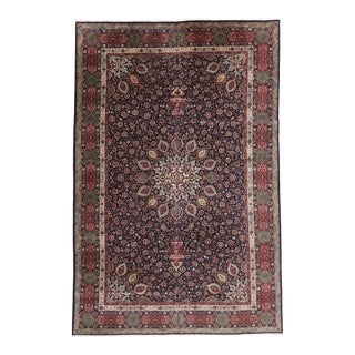Vintage Persian Tabriz Palace Size Rug, 11'07 X 17'04 For Sale