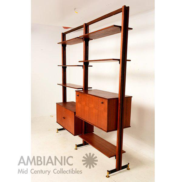 1960s Mid-Century Modern Italian Wall Unit For Sale - Image 5 of 6