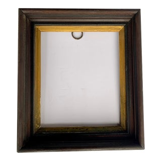 """19th Century Antique Frame Wood and Plaster With Gold Accents for Photo / Art 14"""" X 16"""" For Sale"""