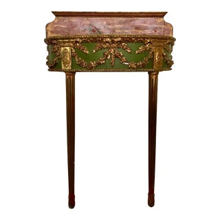 Antique Florentine Demilune Console For Sale