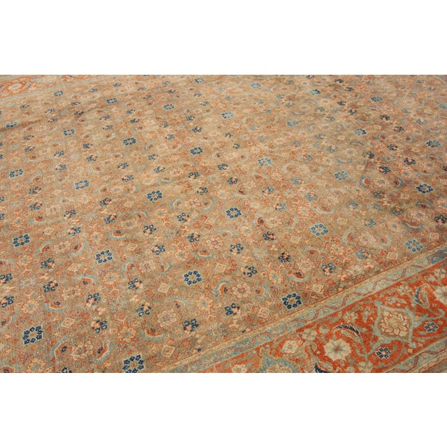 "Vintage Persian Rug, 9'5"" X 12'7"" For Sale - Image 10 of 12"