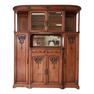 Fine French Art Nouveau Sideboard Cabinet in the Manner of Louis Majorelle, Circa 1890