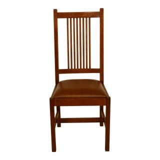 Stickley Mission Oak Arts & Crafts Desk Side Chair For Sale