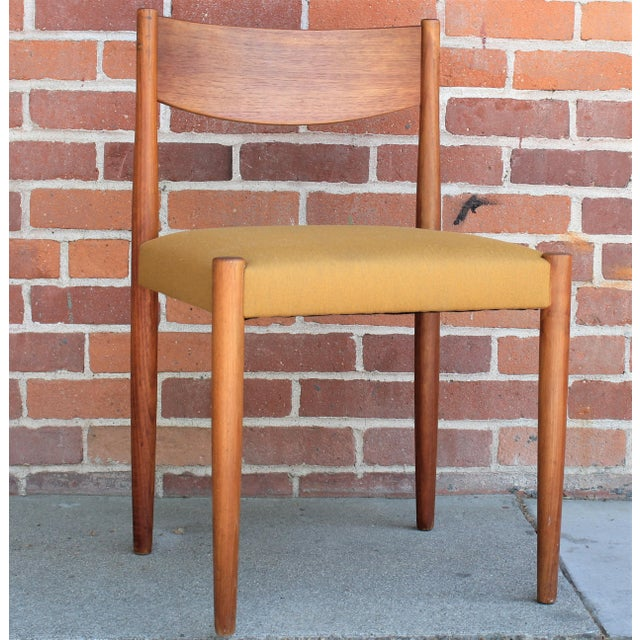 1960s Vintage Danish Modern Teak Dining Chairs- Set of 4 For Sale - Image 4 of 13