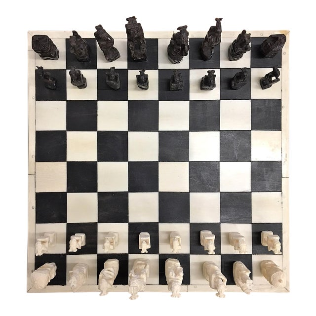 1930 Belgian Congo Ivory Chess Set For Sale