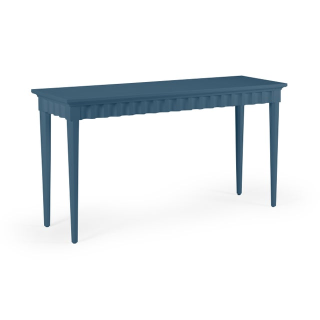 Transitional Casa Cosima Flutter Console, Van Deusen Blue For Sale - Image 3 of 3