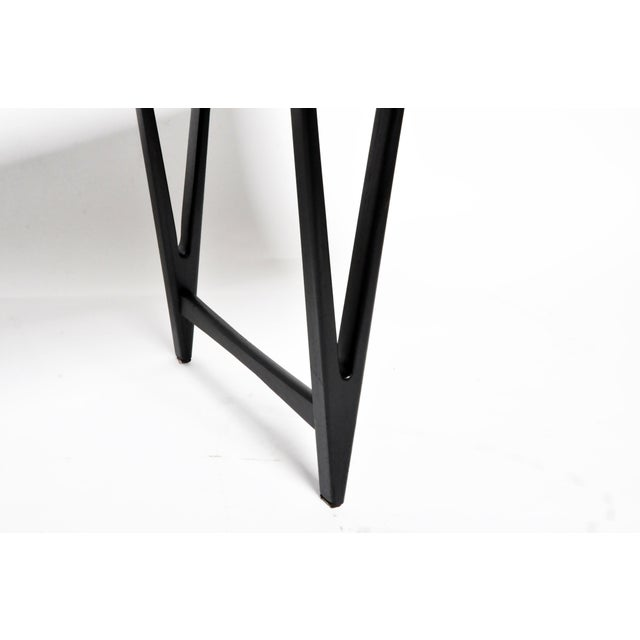 Mid Century Modern Painted Black Teakwood Coffee Table For Sale - Image 11 of 13
