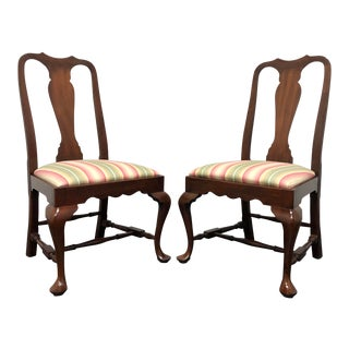 1980s Henkel Harris Spnea Mahogany Queen Anne Dining Side Chairs 104s 29 2 - a Pair For Sale