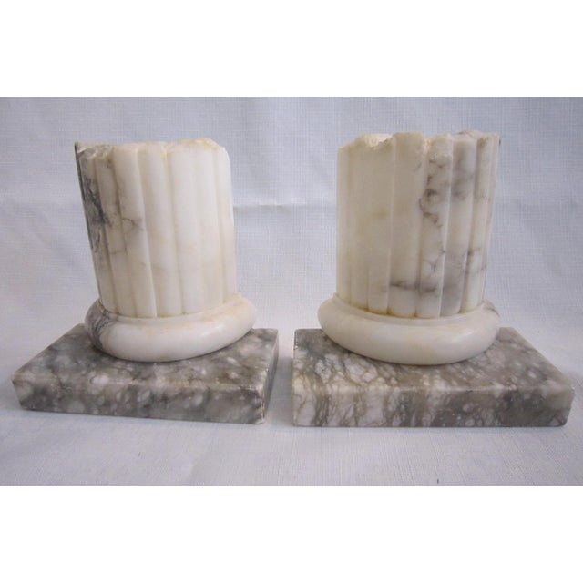 Neoclassical Marble Bookends - Pair - Image 5 of 5