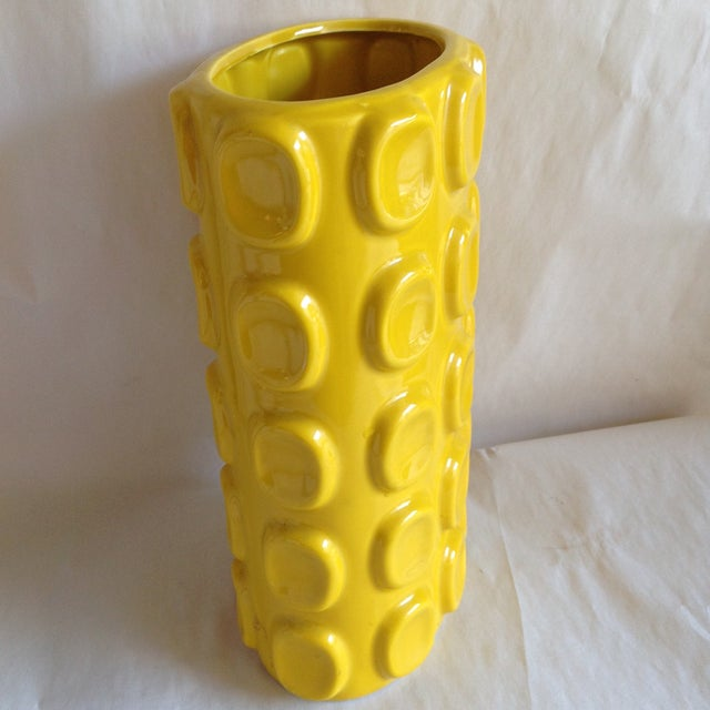 Modern Yellow Ceramic Vase - Image 7 of 10