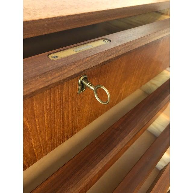 1960s Mid-Century Modern Handbjerg Mobelfabrik Teak Dresser With Key For Sale In Seattle - Image 6 of 9