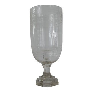 Mid-Century Clear Leaves Candle Holder For Sale