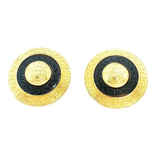 Rare Large Medusa Earrings by Gianni Versace For Sale