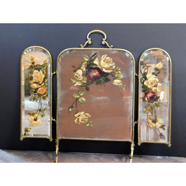 French Antique Decorative Fireplace Screen For Sale - Image 3 of 10