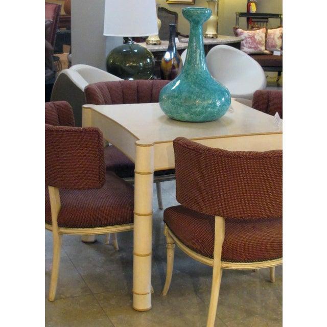 An Impressive and Large-Scaled American 1960's Jaru Pottery Bottle-Form Teal-Glazed Vase/Vessel With Original Label For Sale In San Francisco - Image 6 of 7