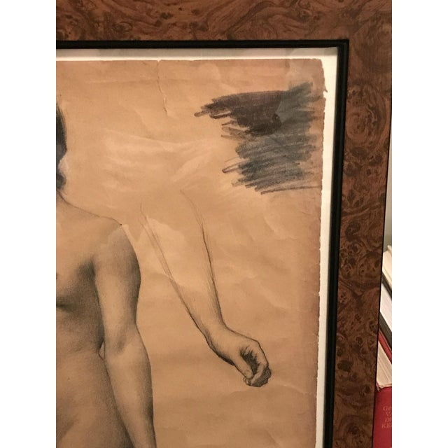Late 19th Century Classical French Female Nude Study Drawing, Late 19th Century For Sale - Image 5 of 7