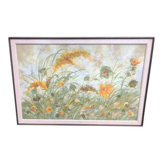 Vintage Still-Life Oil Print Serigraph by Dietrich For Sale