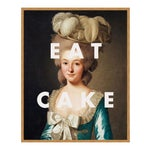Eat Cake by Lara Fowler in Gold Framed Paper, Small Art Print