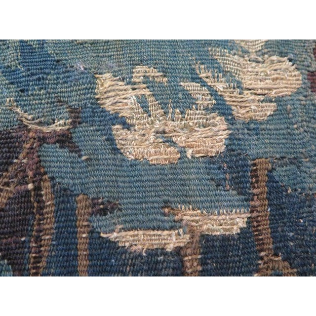 Textile 18th Century Verdure Tapestry Pillow For Sale - Image 7 of 8