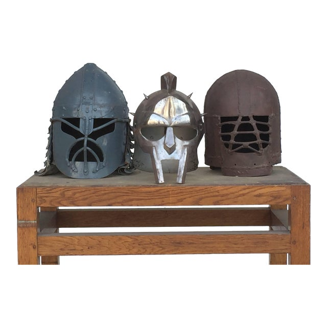 Decorative Collection of Three Movie Prop Masks For Sale